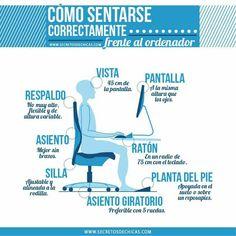 Sentarse correctamente #ordenador