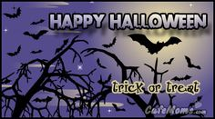 Purple Night Sky Happy Halloween Graphic plus many other high quality Graphics for your Facebook profile at CafeMoms.com.
