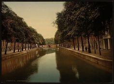De Herengracht rond 1890 (Library of Congress)