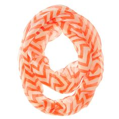 16.80$  Watch now - http://vitth.justgood.pw/vig/item.php?t=li0cmms26956 - Zig Zag Neon Orange Infinity Scarf