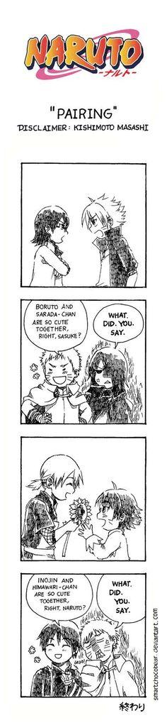 Sarada Boruto Inojin Himawari Sai Naruto Sasuke