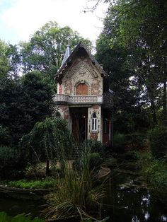 """The writing studio of Alexander Dumas on the grounds of his country house, Château de Monte-Cristo. Both were built in 1840s by Hippolyte Durand in Port-Marly, Yvelines, France. Dumas named both after settings in one of his most successful novels: Le Comte de Monte-Cristo, 1845–1846. Abandoned in the twentieth century, the châteaux & gardens fell into disrepair by the 1960s. [Now restored] the entire property is operated as a public historic museum memorializing Dumas..."""" [from Wikipedia]"""