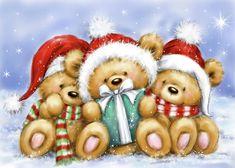 Christmas Scenes, Christmas Art, Vintage Christmas, Christmas Decorations, Xmas, Christmas Ornaments, Canvas Artwork, Canvas Art Prints, Decoupage