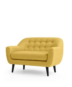 The Mini Ritchie 2 Seater Sofa, in Ochre Yellow. The Ritchie's always been a MADE favourite, so we've shrunk it for stylish kids. £299. MADE.COM