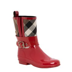 Splash your way through fall in these adorable Burberry rain boots.