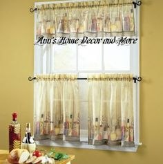 Anns Home Decor and More - Tuscany tuscan tier valance set kitchen curtains