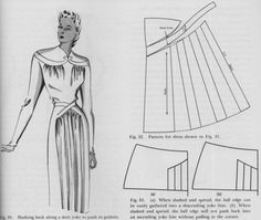 Pattern drafting for a dress with draped bodice and skirt detail