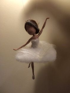 Needle felted fairy Waldorf inspired Wool White Swan by DreamsLab3 by lindsay0