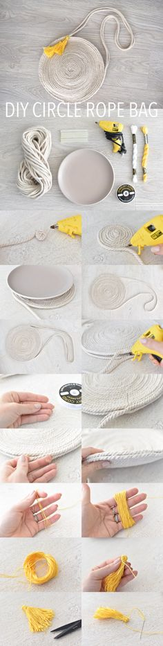 DIY Circle rope bag tutorial how to