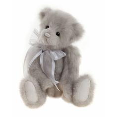 "icicle s a 12"" (30cms) plush Charlie Bear designed by Heather Lyell  Fully jointed and hand finished Plush Charlie bear."