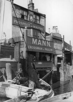The Prospect of Whitby public house on the canal at Wapping
