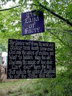 Faeries ... and why you must be young at heart to see them.