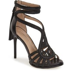 "BCBGMAXAZRIA 'Esh' Sandal, 4 3/4"" heel ($375) ❤ liked on Polyvore"