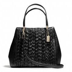 Coach  MADISON NORTH/SOUTH SATCHEL IN GATHERED CHEVRON LEATHER
