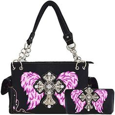 Best Handbags, Fashion Handbags, Purses And Handbags, Fashion Bags, Fashion Accessories, Nice Handbags, Skull Purse, Camo Purse, Vegan Leather