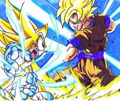 Goku vs Sonic   A Luta mais Foda do Universo !!!!