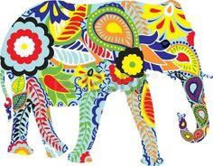 Free art print of Silhouette of an elephant with Indi. Silhouette of an elephant with colorful Indian designs Indian Elephant Art, Colorful Elephant, Elephant Love, Indian Art, Elephant Stuff, Elephant Colour, Elefante Hindu, Elephant Afrique, Elephant Illustration
