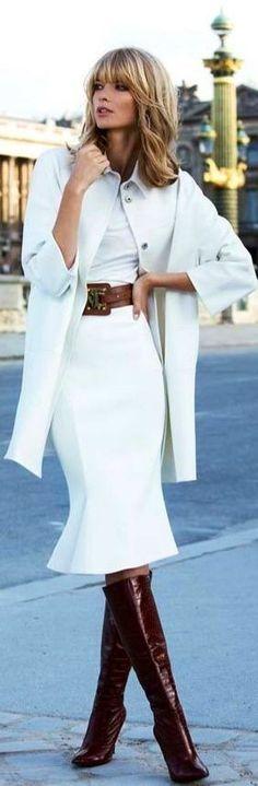 Julia Stegner blond white outfit belt ♥  ♥ @Tonjaamenra