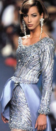 Christy Turlington: Claude Montana for LANVIN Couture, 1991