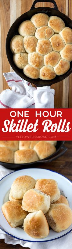 Soft and Fluffy One Hour Skillet Rolls