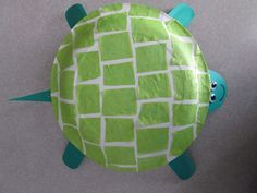 sea turtle craft with paper bowl