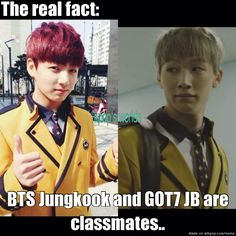 BTS and GOT7 really connects!! HAHAHA :D AhGaSes and Armys all the way!! :D | allkpop Meme Center