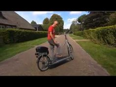 """VIDEO:  """"Walking bicycle"""" - posted by Lola Bun on YouTube;  sounds German;  The 'rider' just walks on the treadmill section causing the gears to turn the bike's wheels so you travel faster than if you were just walking.    ...Looks much safer than another """"treadmill bike"""" on cmt..."""