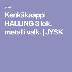 Kenkäkaappi HALLING 3 lok. metalli valk.   JYSK 15 cm syvä, metallia