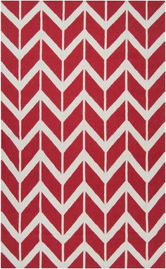 Seeing red! Flat weave rug from Surya.
