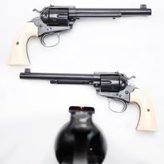 Colt Bisley Target Revolver - A total of 976 Colt Bisley Target revolvers with their distinctive flat-top profile were manufactured. But ours is marked for the .44-40 cartridge of which only 78 guns were produced. The ivory grip panels don't hurt this one's collector interest either. Instead of the usual groove down the top of the receiver, the GOTD had a windage-adjustable rear sight and a removable front sight insert that could be swapped for elevation changes.