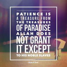 So be patient with beautiful patience. Surah Ma'arij | Verse 05