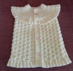 This Pin was discovered by Hül Diy Crafts Dress, Diy Dress, Baby Boy Knitting Patterns, Baby Patterns, Embroidery Neck Designs, Moda Emo, Baby Pullover, Baby Vest, Vest Pattern