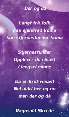 Ragnvald Skrede Minne, Poems, Poetry, Verses, Poem