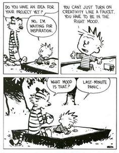 Calvin and Hobbes: creativity