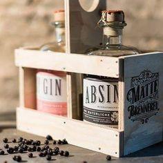 MATTE Absinthe & Gin in Holzbox 2 x 50 cl / Schweiz