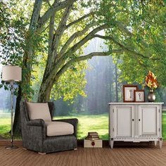 Home Improvement Custom Photo Wallpaper Three-dimensional Forest Scenery Living Room Background Mural Fabric Wallpaper 3d Wallpaper Mural, Forest Wallpaper, Scenery Wallpaper, Fabric Wallpaper, Photo Wallpaper, Forest Scenery, Wall Scenery, Photo Scenery, Small Spaces
