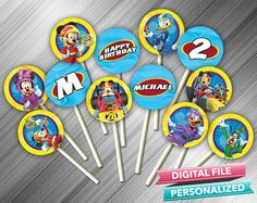 Mickey Roadster Racers Cupcake Toppers