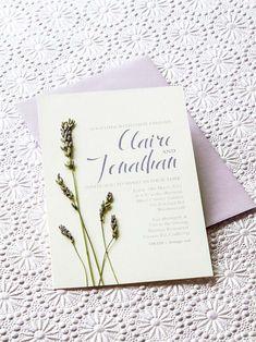 Lavender DIY Wedding Invitations // modernwedding.com.au