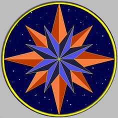 Stylistic compass rose