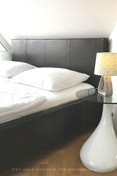 Schlafen wie im Himmel in der Villa Vienna! Buchbar für 2 - 8 Personen.  Modern and comfortable bedrooms. Visit vienna and save your stay at Villa Vienna.