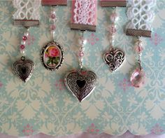 ❥ romantic bookmarks with instruction link