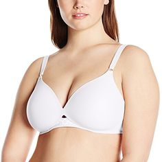 8c2b749f56 Olga Women s To a Tee Wire-Free Contour Bra Wire-free T-shirt bra with  contoured cups