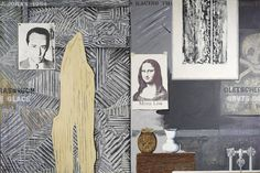 Jasper Johns, Racing Thoughts, oil on canvas, 127 x cm x 75 in.), Collection of Robert and Jane Meyerhoff Jasper Johns, Robert Rauschenberg, Art Pop, Whitney Museum, National Gallery Of Art, Collage Art, Painting Collage, Paintings, New Artists