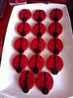 Ladybug cookies