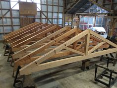 Exposed Trusses in Residential Settings Archives - Timberworks Exposed Trusses, Roof Trusses, Country House Design, Cabin Design, Roof Truss Design, Wood Truss, Casas Containers, Timber Structure, Timber Frame Homes