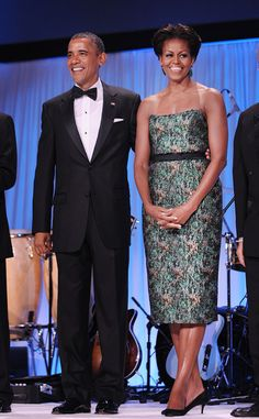 Michelle Obama in Chris Benz | Tom + Lorenzo