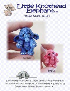OVeR 30 off PaTTeRN SaLE  crochet ANiME ELePHaNT by PRiMiTeDS, $12.95