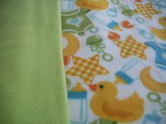 Rubber Ducky and Friends Baby Fleece Blanket by NorthwoodsNiche, $34.95