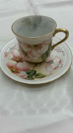 Paola Codazzi- wild roses teacup and saucer