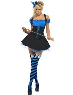 ADULT LADIES HALLOWEEN SEXY BLUE WITCH FANCY DRESS COSTUME - SIZES S, M, L Kind of wish it wasn't so showy but I like the blue!